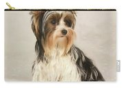 Portrait Yorkie Miss Mia Photo Painting Carry-all Pouch