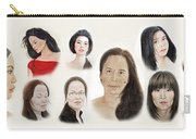 Portraits Of Lovely Asian Women II Carry-all Pouch