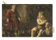 Portraits Of Two Boys In A Landscape One Dressed As A Hunter The Other St As John The Baptist Carry-all Pouch