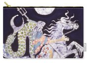 Poseidon Rides The Sea On A Moonlight Night Carry-all Pouch by Carol  Law Conklin
