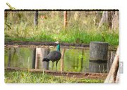Posing Peahen Carry-all Pouch