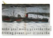 Post Office Savings Bank - Steamliner - Retro Travel Poster - Vintage Poster Carry-all Pouch