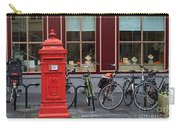 Postbox And Bicycles In Front Of The Diamond Museum In Bruges Carry-all Pouch