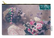 Postcard Girl With A Bouquet Carry-all Pouch