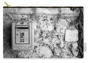 Postes In Black And White Carry-all Pouch