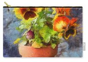 Potted Pansy Pencil Carry-all Pouch