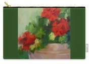 Potted Red Geraniums Carry-all Pouch