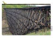 Pouce Coupe Train Wooden Trestle Carry-all Pouch