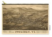 Poultney Vermont Map Vintage Carry-all Pouch