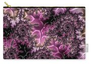 Powder Pink Black Gloss Fractal  Carry-all Pouch