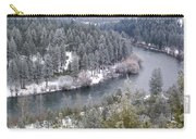 Powdered Spokane River Carry-all Pouch