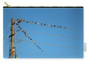 Power Line Birds Carry-all Pouch