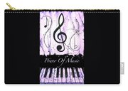 Power Of Music Purple Carry-all Pouch