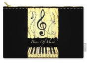 Power Of Music Yellow Carry-all Pouch