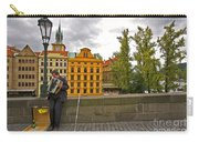 Prague Accordian Player On Charles Bridge Carry-all Pouch