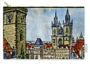 Prague Czech Republic Carry-all Pouch by Irina Sztukowski