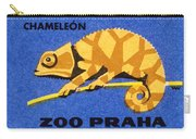 Prague Zoo Chameleon Matchbox Label Carry-all Pouch