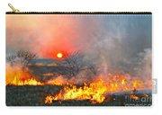 Prairie Burn Sunset In Kansas Carry-all Pouch