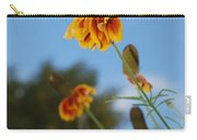 Prairie Cone Flowers Against Blue Sky Vertical Number One Carry-all Pouch