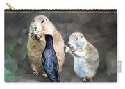 Prairie Dogs And A Bird Eating Carry-all Pouch