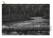 Prairie River Crossing Log Square Format Carry-all Pouch