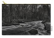 Prairie River Whitewater Black And White Carry-all Pouch