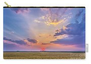 Prairie Sunset With Crepuscular Rays Carry-all Pouch