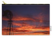 Prairie Sunset With Windmill Carry-all Pouch