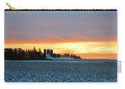 Prairie Winter Sunrise Carry-all Pouch