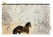 Prancing Through The Snow Carry-all Pouch