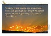 Pray Abundantly Carry-all Pouch