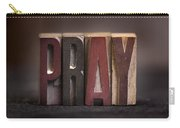Pray - Antique Letterpress Letters Carry-all Pouch