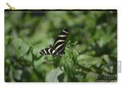 Precious Black And White Zebra Butterfly In The Spring Carry-all Pouch