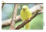 Precious Little Yellow Parakeet In The Wild Carry-all Pouch