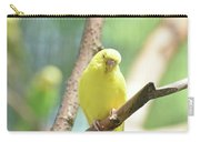 Precious Yellow Budgie Parakeeet In The Wild Carry-all Pouch