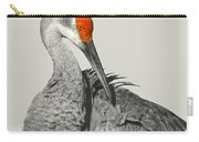 Preening Crane Carry-all Pouch