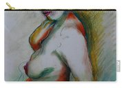 Pregnant Nude Carry-all Pouch