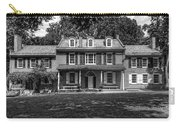President James Buchanan's Wheatland In Black And White Carry-all Pouch