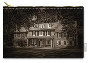 President James Buchanan's Wheatland In Sepia Carry-all Pouch