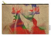 President James Madison Watercolor Portrait Carry-all Pouch