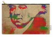President John Adams Watercolor Portrait Carry-all Pouch