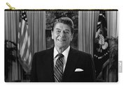 President Ronald Reagan In The Oval Office Carry-all Pouch