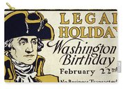 Presidents Day Vintage Poster Carry-all Pouch