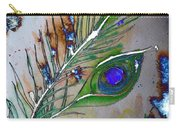 Pretty As A Peacock Carry-all Pouch by Denise Tomasura
