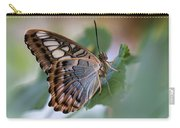 Pretty Butterfly Resting On The Leaf Carry-all Pouch