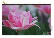 Pretty Candy Striped Pale Pink Tulip In Bloom Carry-all Pouch