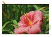 Pretty Flowering Pink Lily In A Garden Carry-all Pouch