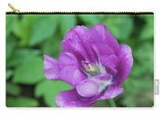 Pretty Flowering Purple Parrot Tulip In A Garden Carry-all Pouch
