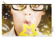 Pretty Geek Girl At Birthday Party Celebration Carry-all Pouch