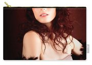 Pretty Glamour Fashion Girl On Red Backlight Carry-all Pouch